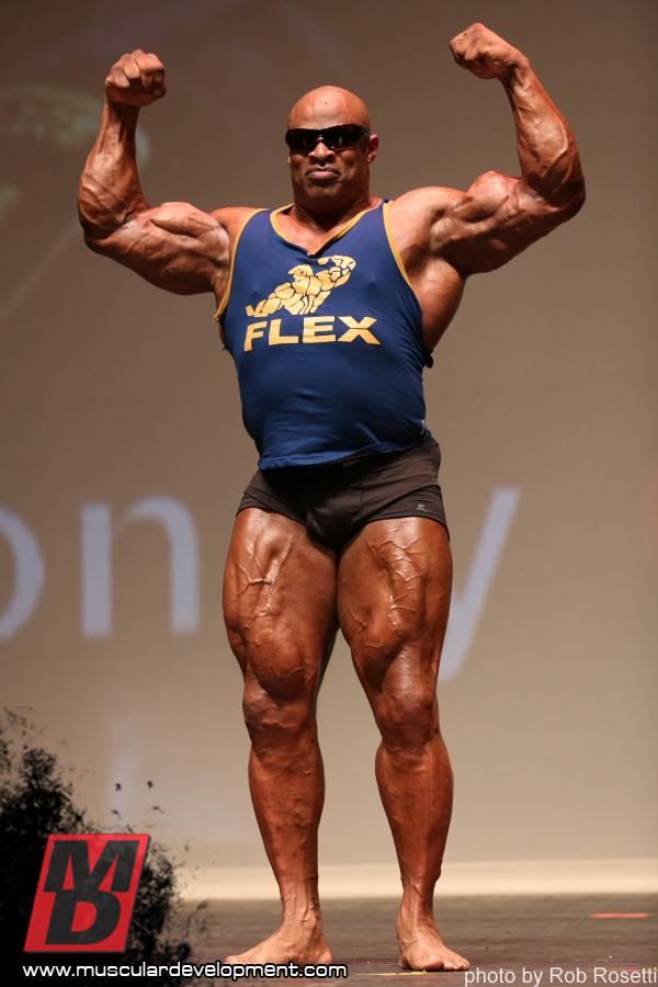 ronnie coleman at masters olympia picsweird body
